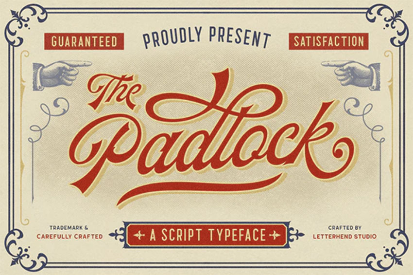 The Padlock - Retro Script Font