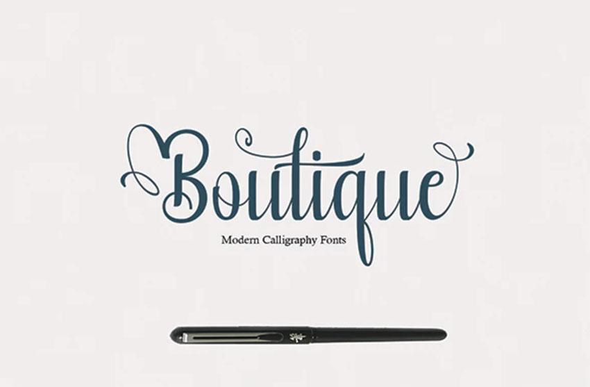 Boutique Vintage Cursive Font