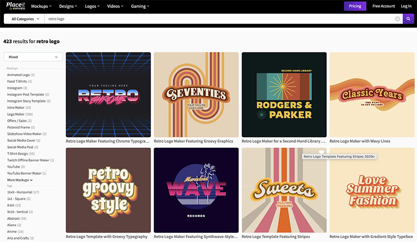 Unlimited Retro Logo Templates from Placeit