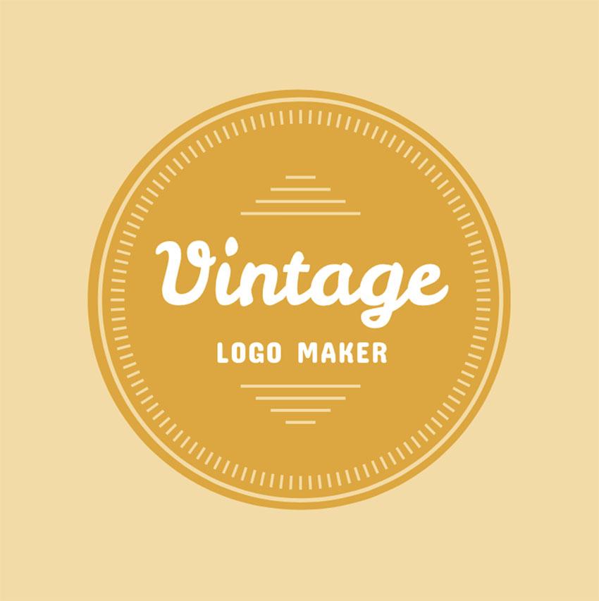 Vintage Circle Logo