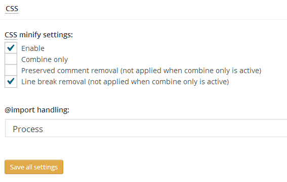 Configuring W3 Total Cache: Advanced Minification Settings