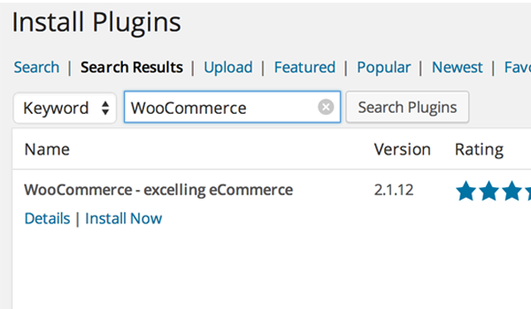 WooCommerce - install plugin