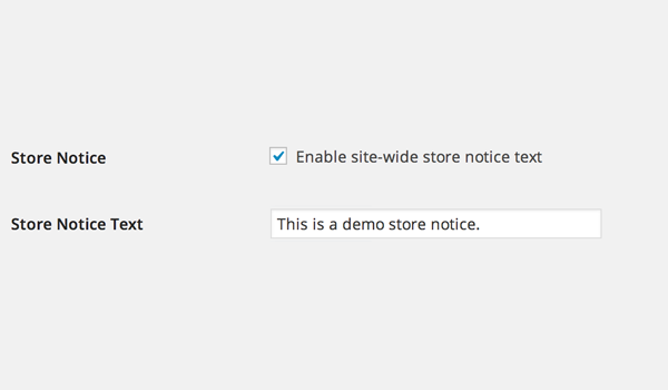 Store notice option