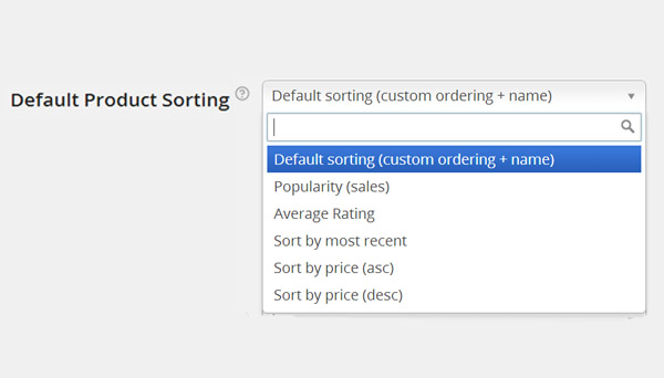 Default Product Sorting