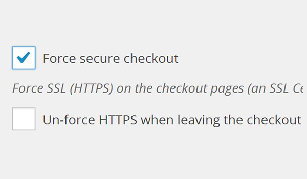 Force secure checkout