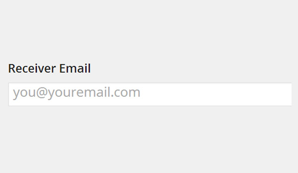 Receiver email address
