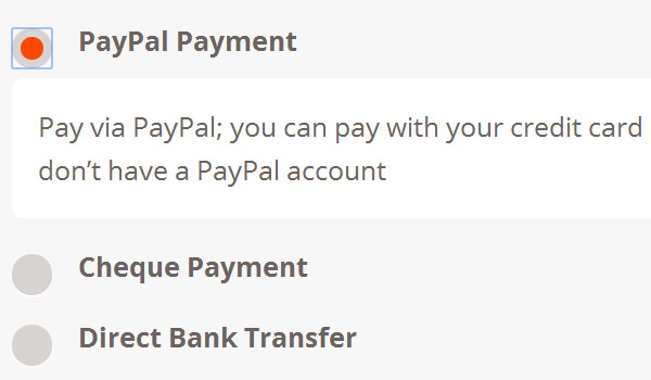 PayPal description