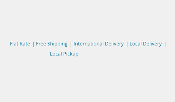 WooCommerce Shipping Options menu