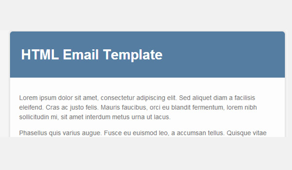 Email template with base color of blue