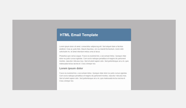 Pale gray background color for email template