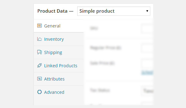 select Simple product from the Product Data