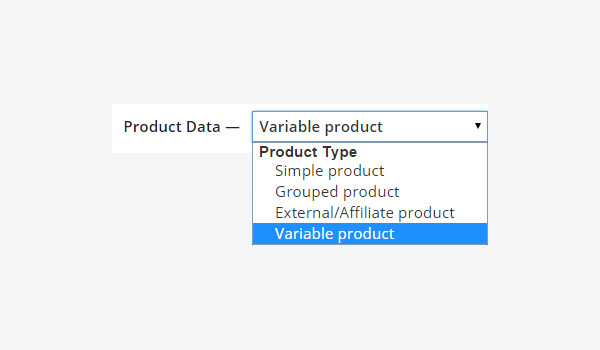 Creating a Variable product