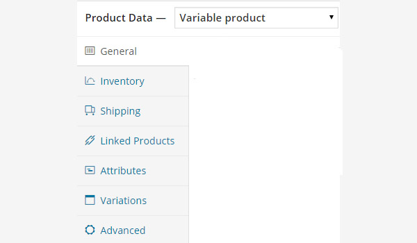 Variable product settings