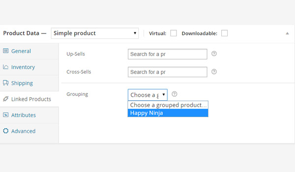 Creating a Child Product in a Group