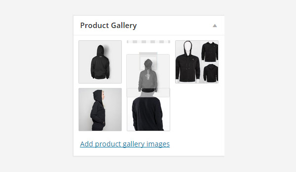 Reordering images in the product gallery
