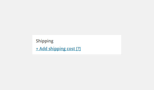Add shipping cost