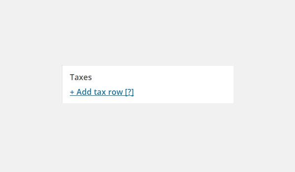 Add tax row