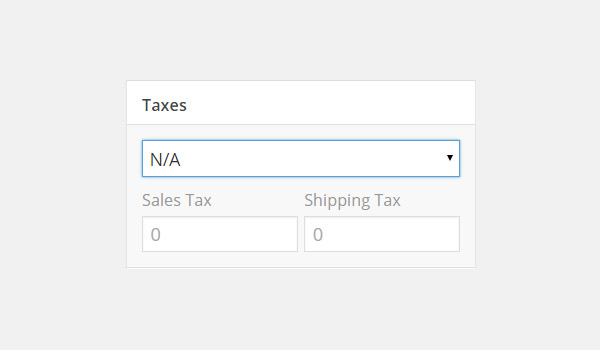 Taxes configuration