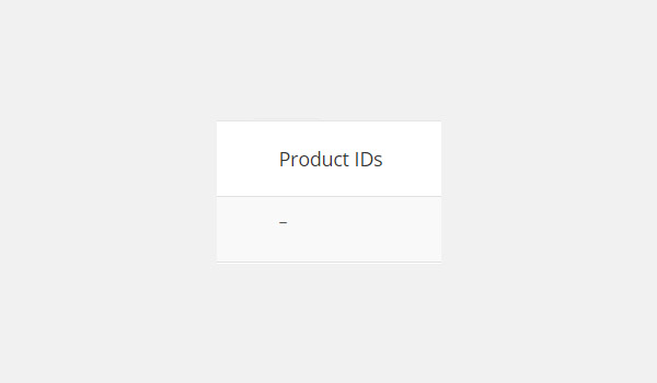 Product IDs column