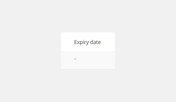 Expiry date column