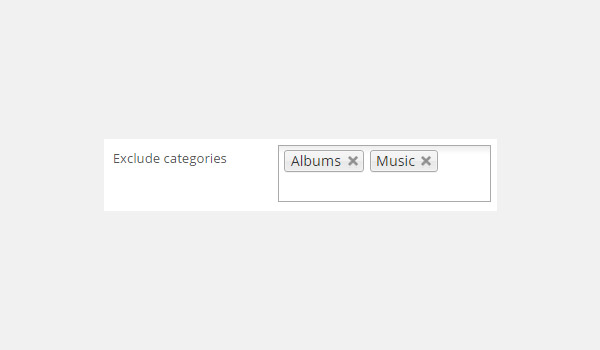Exclude categories field with Albums and Music inside