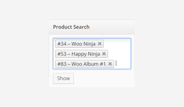product names in search