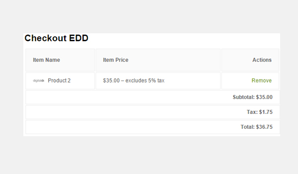 Easy Digital Downloads Taxes Settings