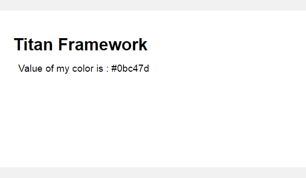 The Output of the Color From the Tabbed Interface