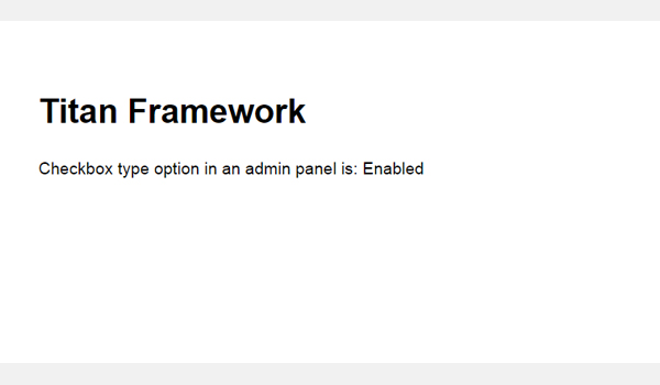 The result of the checkbox on the front-end