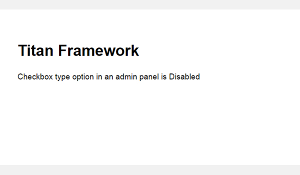 Another result of the checkbox on the front-end