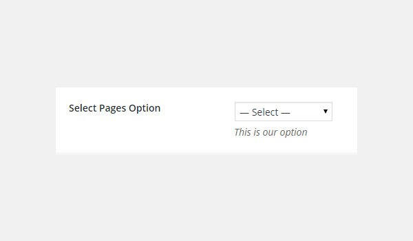Adding Select-Pages Type Options in Titan