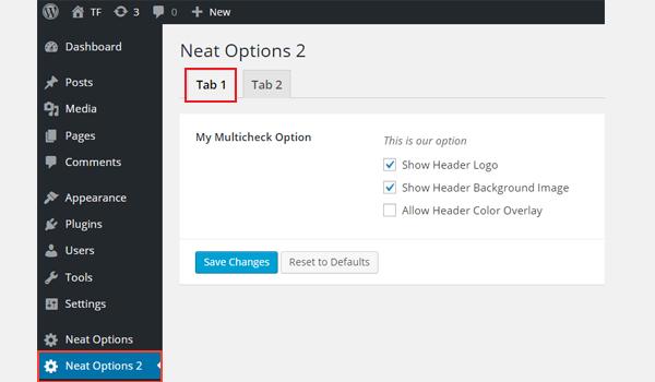 Adding Multicheck Type Options in Titan