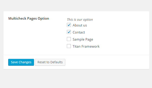 Viewing multi-check page options in the dashboard