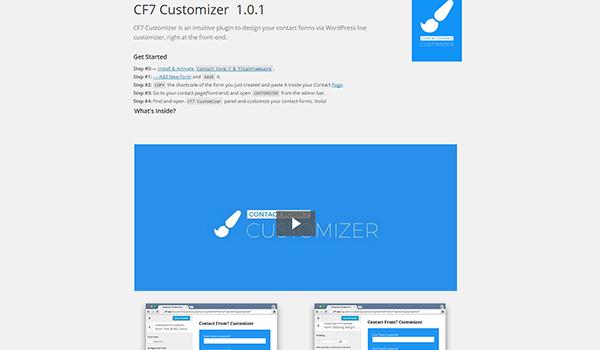 CF7 welcome page setup
