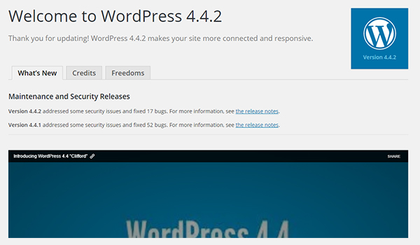 WordPress Default Welcome Page