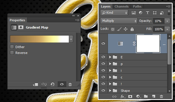 Modifying the Gradient Map Settings