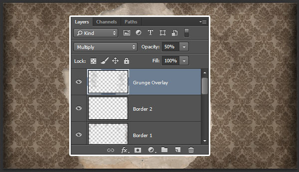 Create a Grunge Overlay layer
