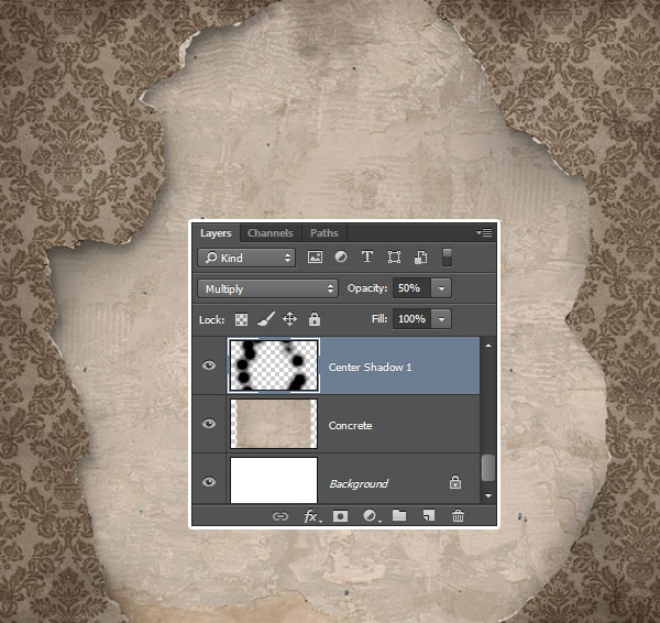 Create a Center Shadow 1 layer