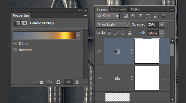 Change the Gradient Map Values