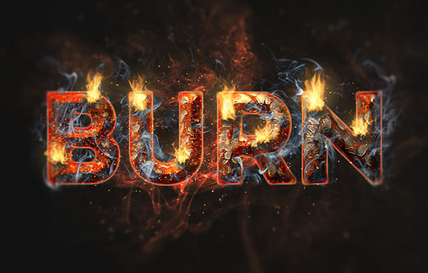 Create a Fire and Rust Text Effect Using the Flame Filter