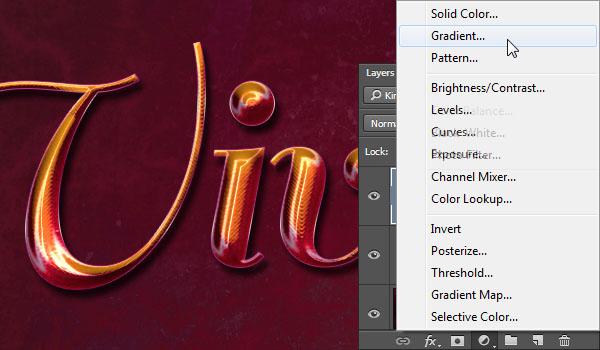 Add a Gradient Adjustment Layer