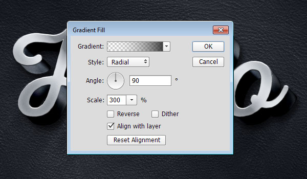 Gradient Fill Settings