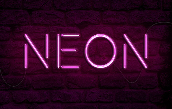 How to Create a Realistic Neon Light Text Effect in Adobe ...