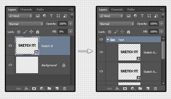 Creating the Smart Object Layers and their Group