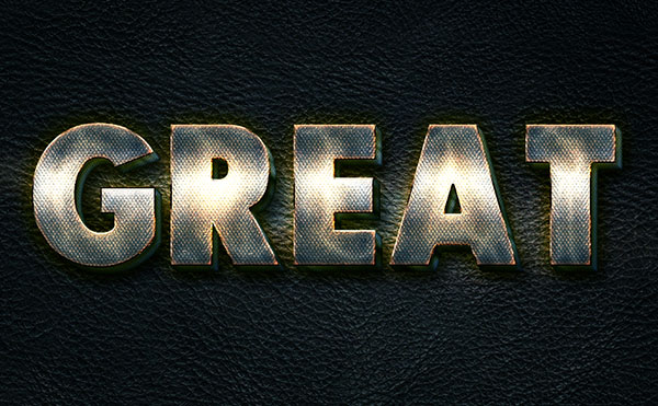 How to Create a Glowing Metal Text Effect in Adobe Photoshop