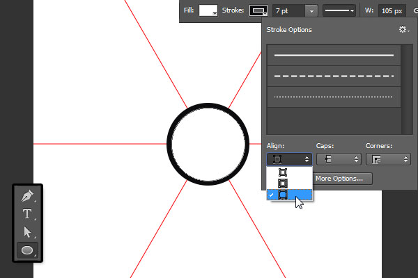 Center Ellipse Settings