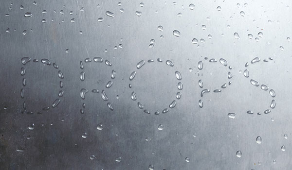 How to Create a Raindrops Text Effect in Adobe Photoshop