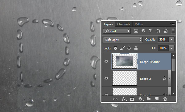 Add the Drops Texture