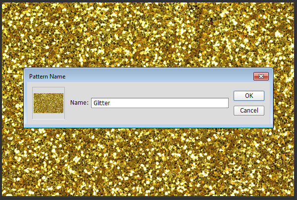 Define the Glitter Pattern
