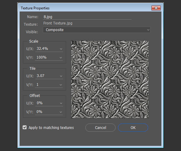 Edit UV Properties Tile Values